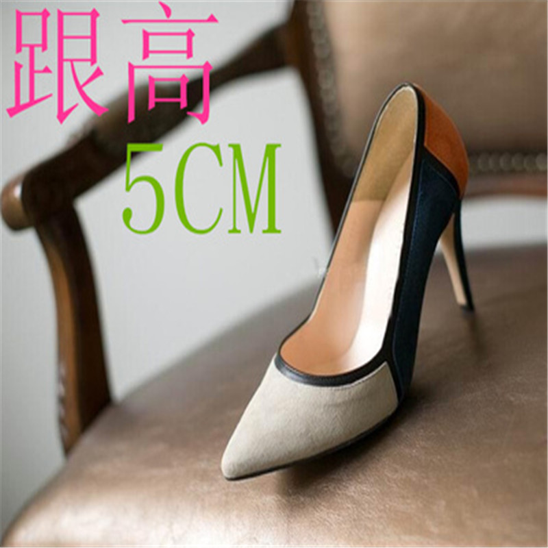 ФОТО Spring and summer high thin heels pointed toe color block decoration shoes small yards 31 32 33 plus size 40 41 42 43