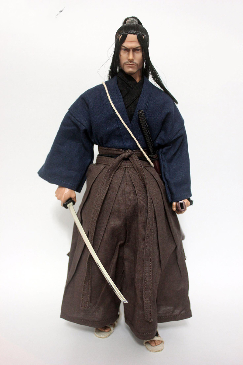 1/6 Japanese Ninja Miyamoto Musashi Head Sculpt with Clothes and Sword for 12''Action Figures Bodies 1 6 scale the game of death bruce lee head sculpt and kungfu clothes for 12 inches figures bodies