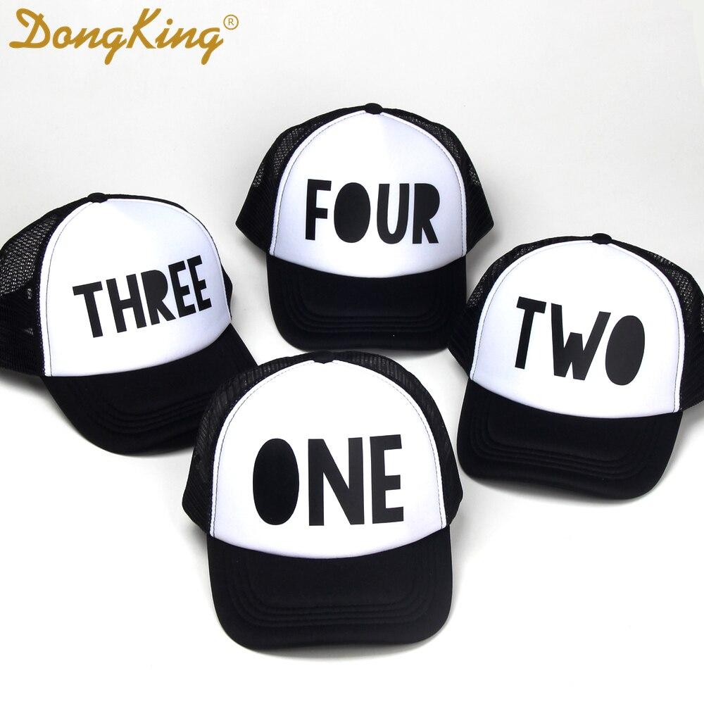 Dongking Kids Trucker Hat First Birthday Hat Cool Kids Cap 1st Birthday Third Fourth Birthday Hats Boys Girls Baby Birthday Gift Men S Baseball Caps Aliexpress