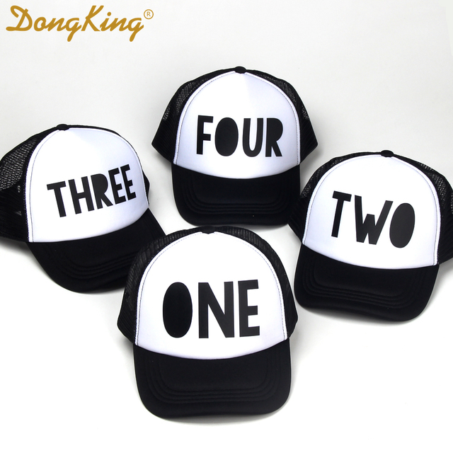 DongKing Kids Trucker Hat First Birthday Cool Cap 1st Third Fourth Hats