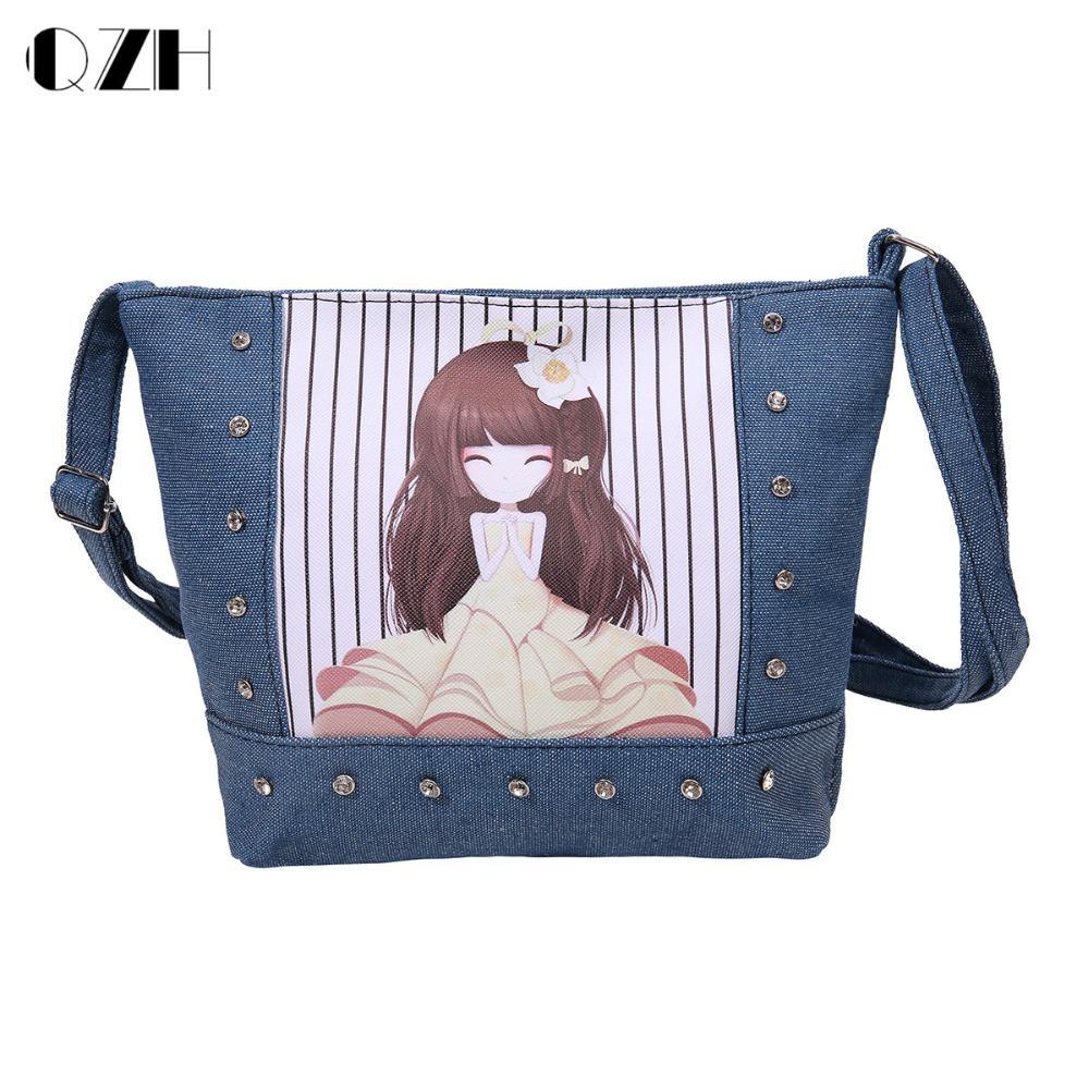 mulheres impressão bolsas meninas sacolas Size : 22*6*17cm