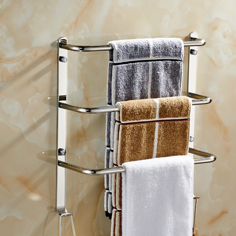 Towel Holder 304 Stainless Steel Towel Bar Toalheiro Bathroom Shelf Towel Bar Multifunctional Multilayer Towel Bars towel bar k37355afd