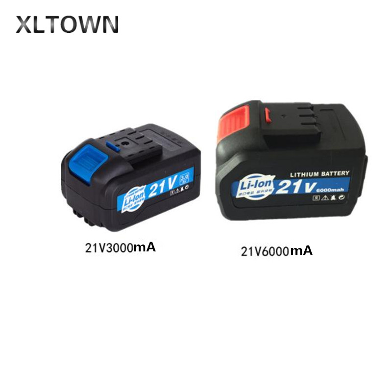 XLTOWN21v high-capacity lithium battery rechargeable power tools lithium battery Electric drill Angle Grinder accessories 2016 promotion new standard battery cube 3 7v lithium battery electric plate common flat capacity 5067100