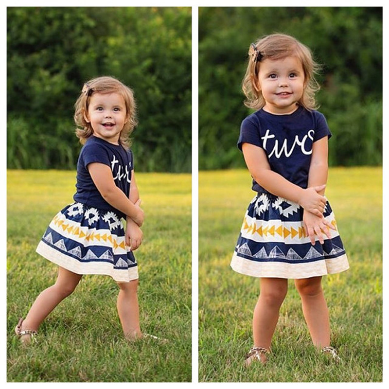 fbb927aea432 2018 Summer Baby Girl Clothes Set Cotton Short Sleeve Printed Tshirt + Black  PU Skirt Girls 2pcs Set Toddler Clothing-in Clothing Sets from Mother   Kids  on ...