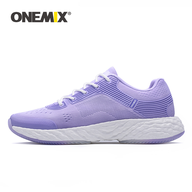 ONEMIX White Sneakers Running Shoes For Women High-tech Sneakers Marathon Running Super Rebound-58 Soft Outsole Women Sneakers