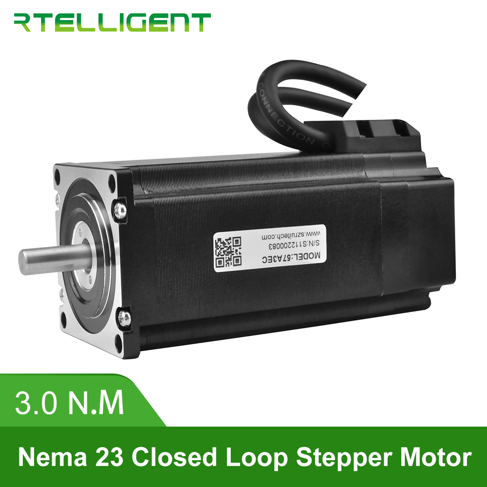 Nema Rtelligent 23 57A3EC 3.0N.M 4.0A 2 Fase Hybird CNC Servo Motor de Passo Do Motor de Passo em Malha Fechada Fácil-servo com Encoder