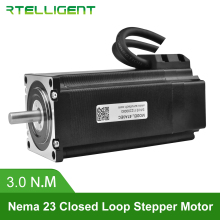 купить Rtelligent Nema 23 57A3EC 3.0N.M 4.0A 2 Phase Hybird CNC Closed Loop Stepper Motor Easy Servo Motor Step-servo with Encoder дешево