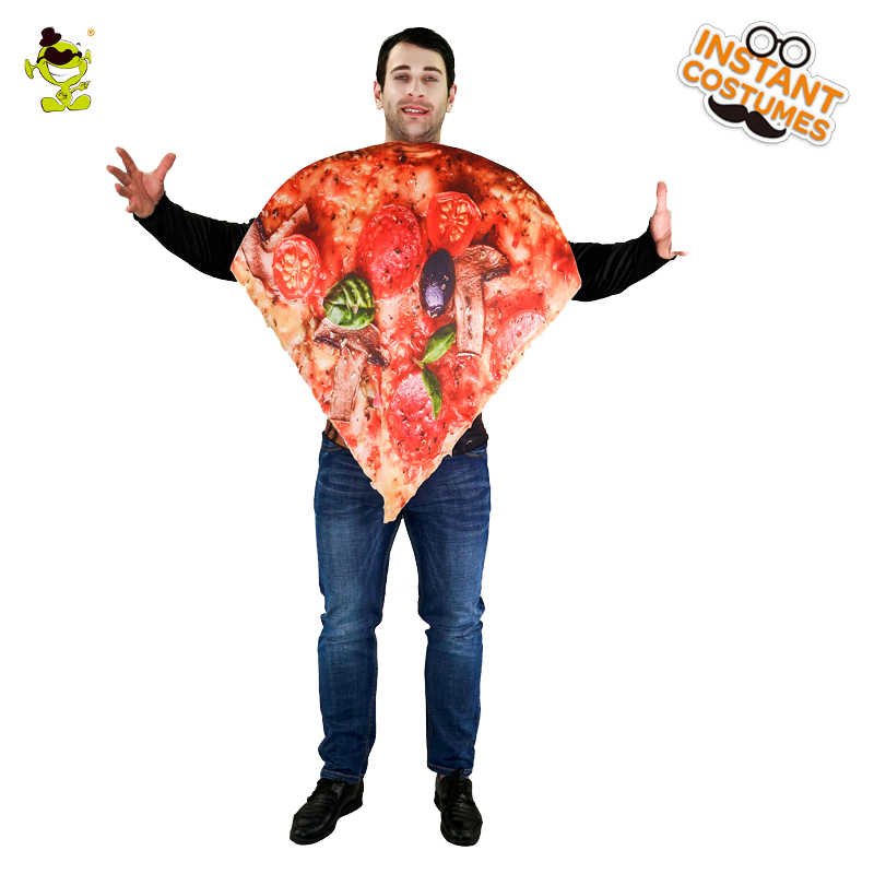 Pizza Slice Food Unisex Adult Costume Pizza Sandwitch Role Play Fancy Dress For Halloween Carnival Party Emotion Jumpsuit