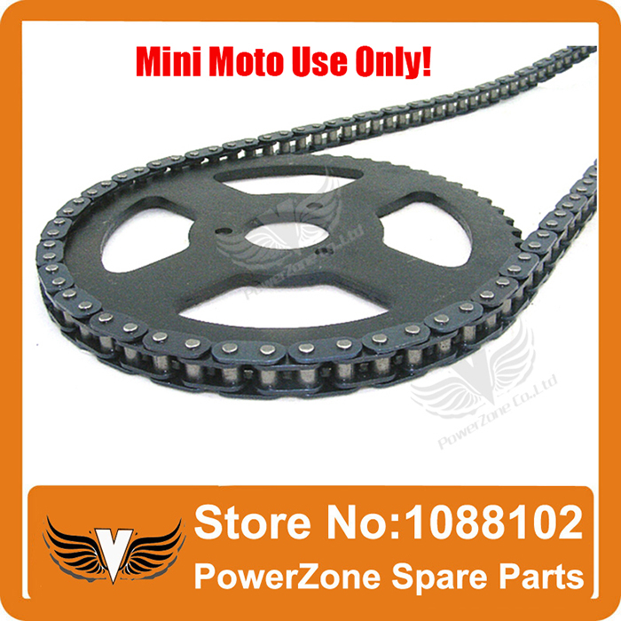 Мини Мото 47cc 49cc приводная система 108 звеньев петли цепи с коробкой передач и задней звездочкой подходят Мини Мото Карманный велосипед