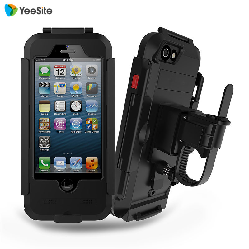 "YeeSite New Waterproof Motorcycle Bike Handlebar Mount Holder Case for <font><b>iPhone</b></font> 5 5s SE 4\"" Outdoor Sport Shockproof Bicycling Case"