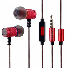 цена на Stereo Metal Earphones with Microphone Noise Cancelling Earbuds In Ear Headset DJ XBS BASS Earphone HiFi Ear Phones