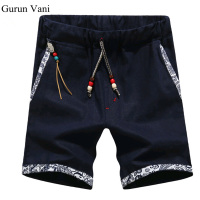 New Summer Style Men Linen Shorts Men Casual Slim Fit Straight Boardshorts Beach Brand Shorts Mens
