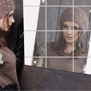 Image 5 - 9 ps/16 ps أريكة التلفزيون خلفية المنزل مربع Ps الفينيل الفن جدارية لتقوم بها بنفسك غرفة ديكور ذاتية اللصق أثاث عالي الجودة الأفلام مرآة احباط