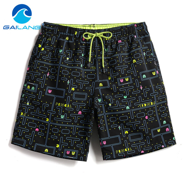 Gailang Brand Men Beach Shorts Board Boxer Trunks Shorts Boardshorts Men's Fashion Swimwear Swimsuits Casual Active Bottoms New