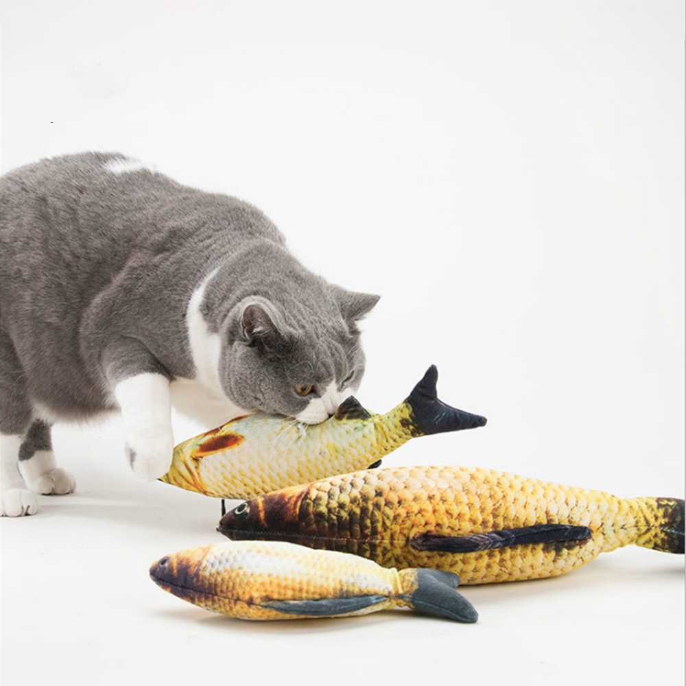 Pet Soft Plush Creative 3D Carp Fish Shape Cat Toy Gifts Catnip Fish Stuffed Pillow Doll Simulation Fish Playing Toy For Pet in Cat Toys from Home Garden