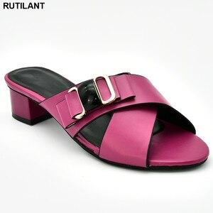 Image 5 - Nieuwe Collectie Italiaanse Vrouwen Bruiloft Pompen Versierd Met Strass Slip Op Schoenen Voor Vrouwen Nigeriaanse Luxe Sandalen Vrouwen