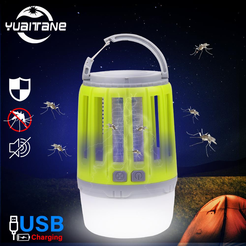 IP67 Waterproof USB Charging Mosquito Killer Trap LED Night Light Lamp Bug Insect Lights Killing Pest Repeller Camping Light New