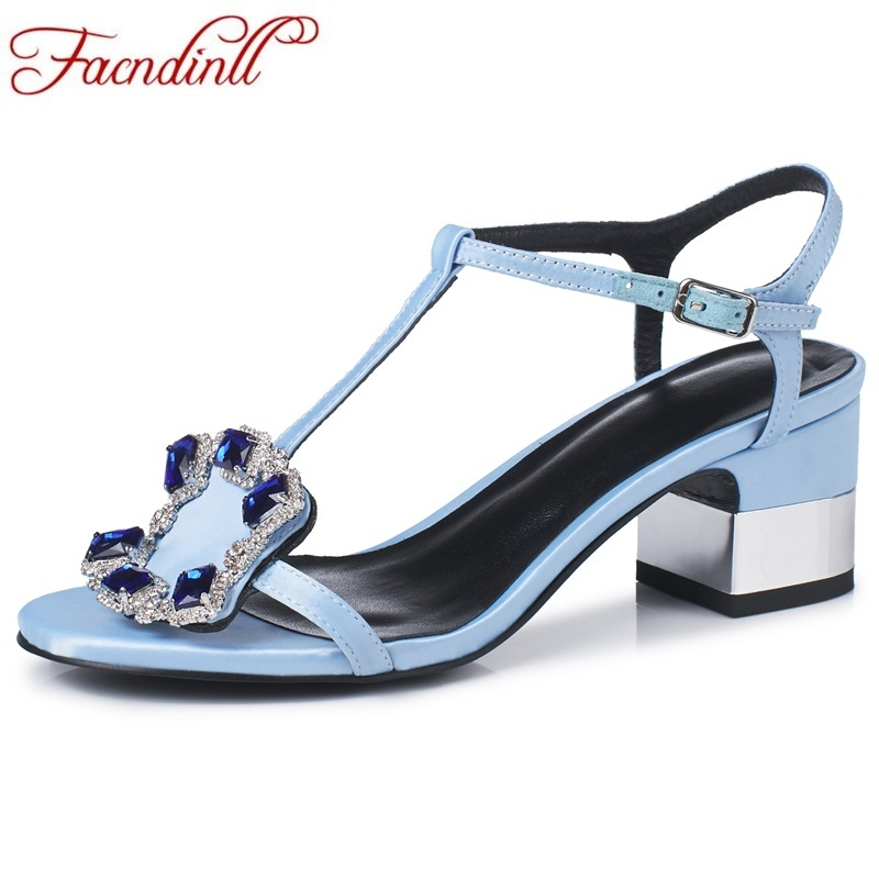 FACNDINLL shoes 2018 fashion summer high heels shoes woman gladiator sandals rhinestone square high heels open toe ladies party enmayla womens high heels shoes summer ladies gladiator sandals women faux suede open toe rhinestone strappy sandals shoes woman