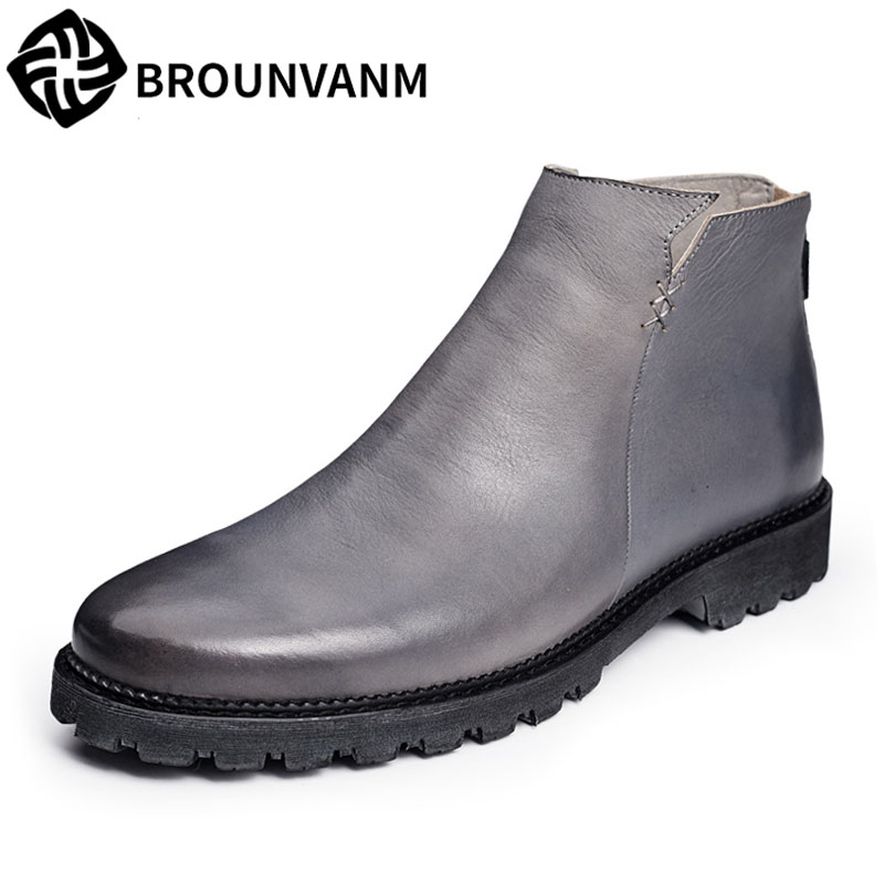 A song Chelsea men leather boots shoes high shoes autumn help Martin vintage leather boots for men кошелек write a song