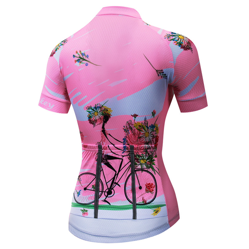 Weimostar Cycling Jersey Women Pink Summer Team Racing Cycling Clothing  Maillot Ciclismo Quick Dry Bike Jersey mtb Bicycle Shirt-in Cycling Jerseys  from ... 1d862a5a7
