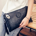 Hot-selling new Day clutch women's small sheepskin messenger bag genuine leather lockbutton envelope bags suede handbag