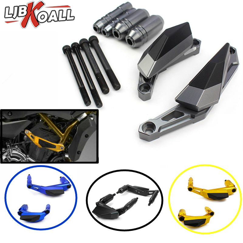 New CNC Aluminum Motorcycle Engine Slider Case Guard Cover Protector Frame For YAMAHA MT 07 FZ