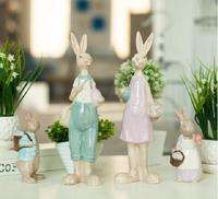 family ceramic white rabbit home decor crafts room decoration handicraft ornament porcelain animal figurines wedding decorations