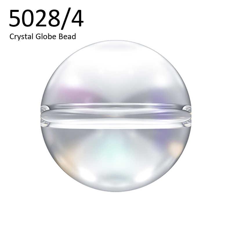 (1 pieza) 5028/4 6mm cristal globo cuentas cristales de Swarovski Austria cuentas sueltas de diamantes de imitación para hacer joyería Diy