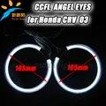 8000 K Super brilhante CCFL angel eyes 4 pcs de halo anéis 105mm círculo completo anel de halo lâmpadas ccfl faróis do carro para Honda CRV 03