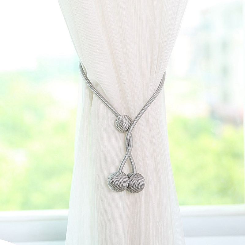 3 Balls Magnetic Curtain Tieback Braided Spherical Chain