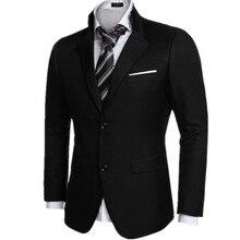 Black color men's suit jacket formal wedding two grain of buckle hot sale high quality custom men's suit jacket