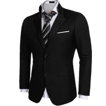 Black color men's suit jacket formal wedding two grain of buckle hot sale high quality custom men's suit jacket