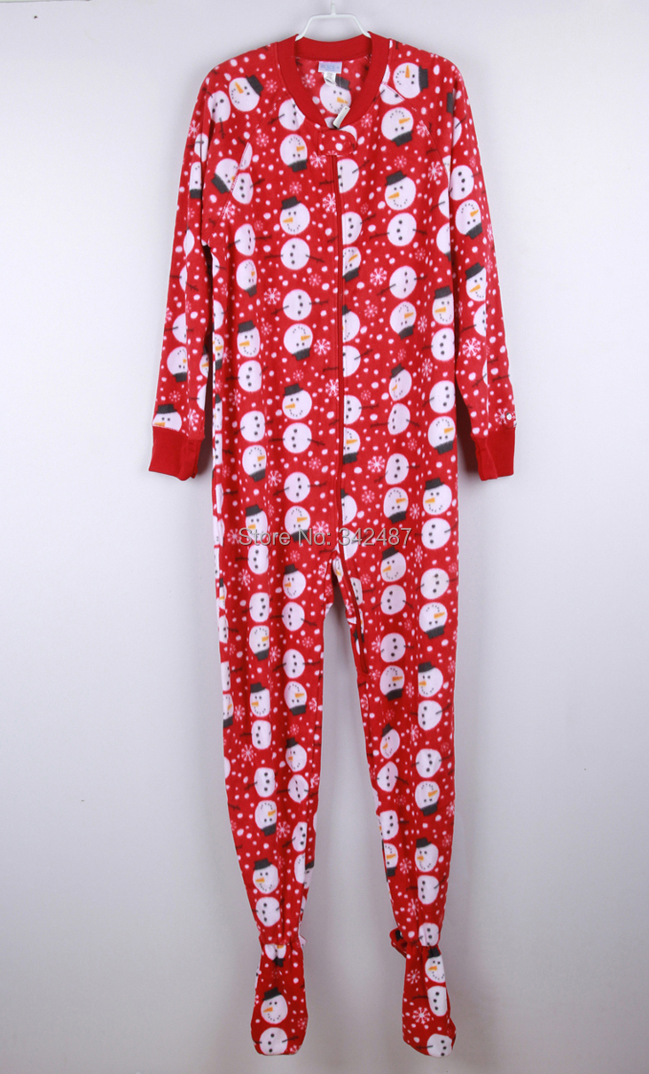 Winter Spring Autumn Fleece Animal Adult red Footed Onesie Hooded Jumpsuit Couple Sleepwear Pajamas for Women Men all in one