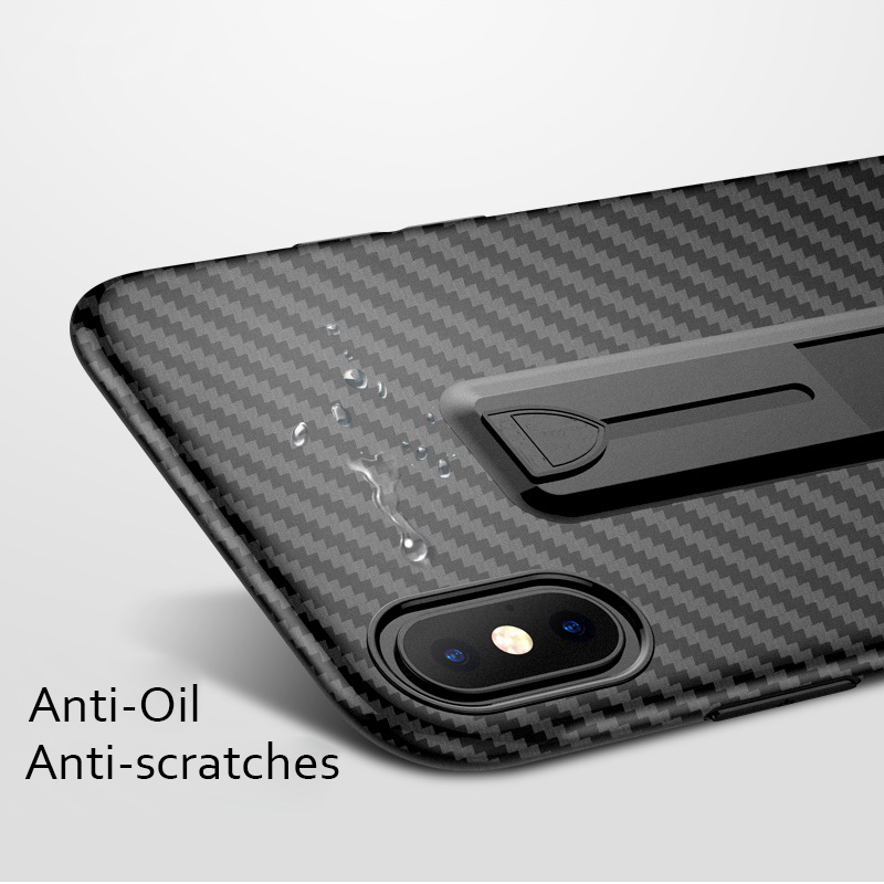07d99e46335066 Ring Holder Case For iPhone XS Max XR XS Carbon Fiber Pattern Soft  Stretchable Kickstand Stand Cover For iPhone 7 8 X 6 6S Plus
