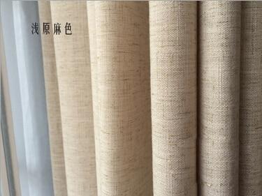 Lino semplice colore solido tende moderne per soggiorno rideaux pour
