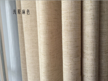 Flax Simple Solid Color Modern Curtains For Living Room Rideaux Pour Le Salon Bedroom