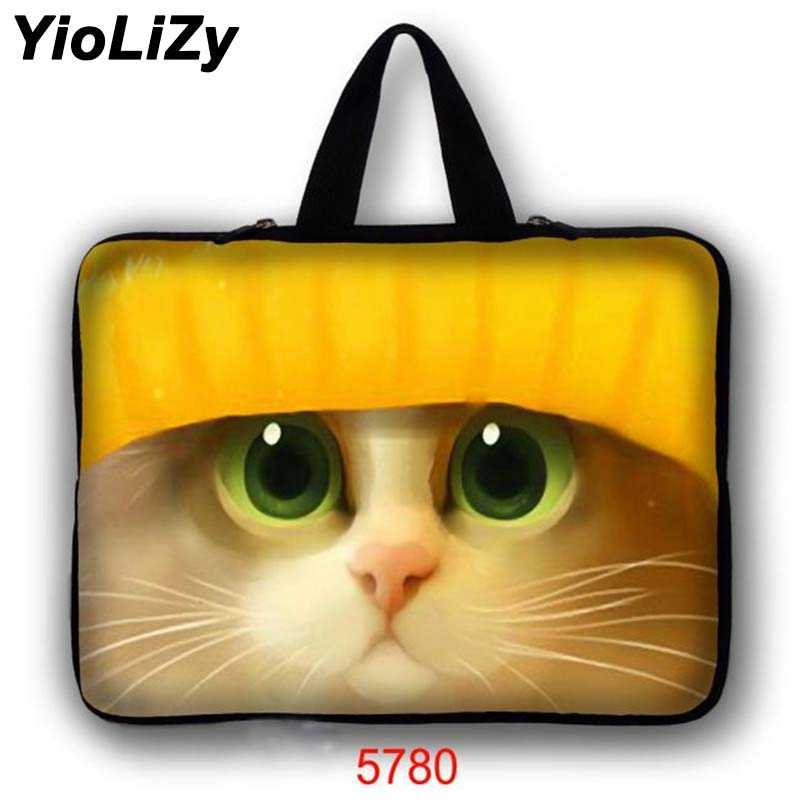 waterproof print cat 7.9 9.7 11.6 13.3 14 15.6 17.3 inch Notebook pouch Sleeve women Laptop case men Ultrabook bag cover LB-5780 ...