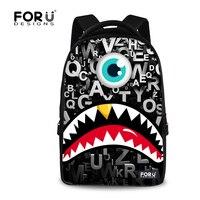 2016 Funny Graffiti Monster Printing Laptop Backpacks Large College Teenager Boys School Backpack Casual Travel Backbag