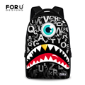2016 Funny Graffiti Monster Printing Laptop Backpacks Large College Teenager Boys School Backpack Casual Travel Backbag Mochila