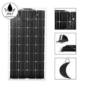 Image 2 - Dokio 12v 100 ワット単結晶柔軟なソーラーパネルポータブル 100 ワットパネル太陽 16 12v車/ボート/ホームパネル太陽 200 ワット中国