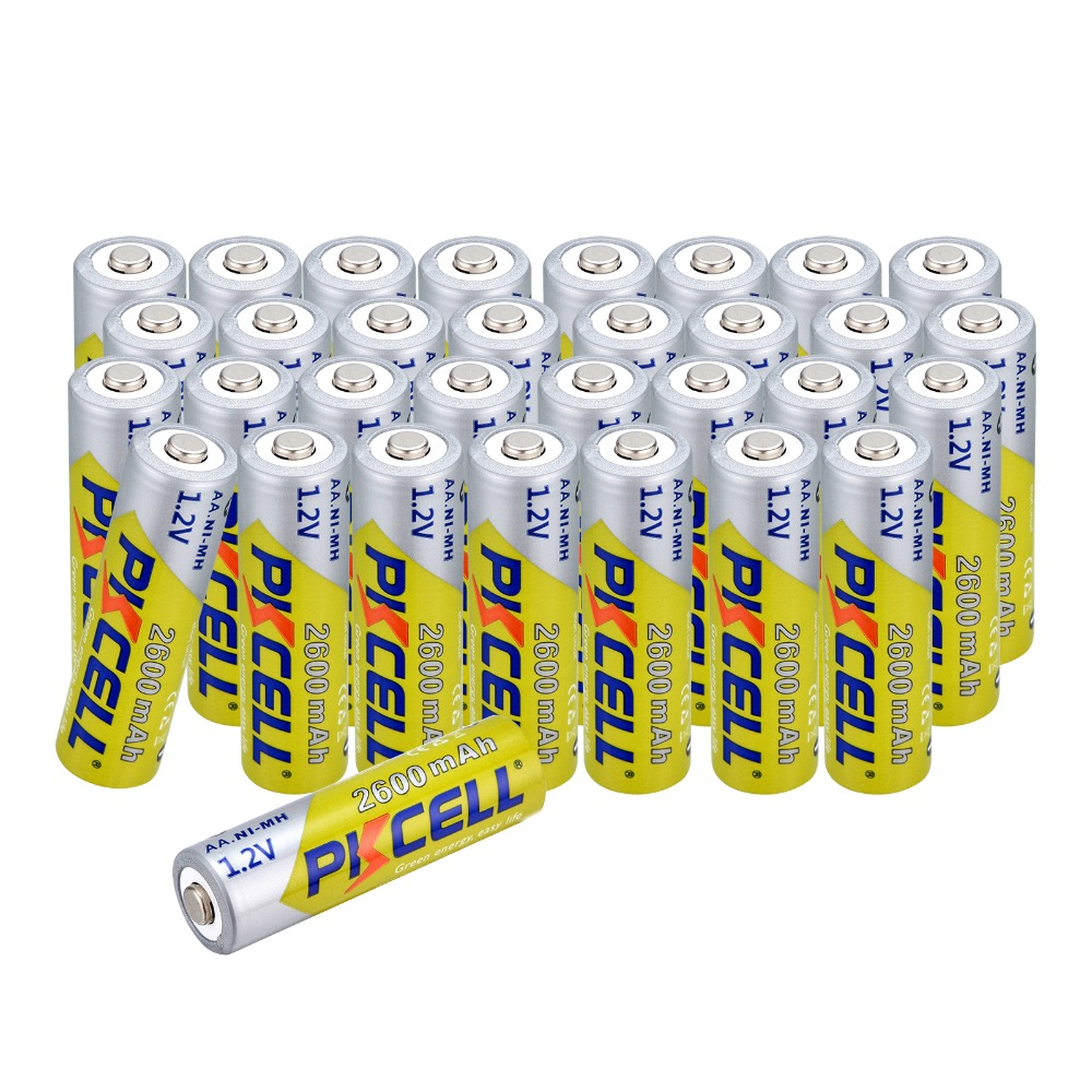 32 pcs 2a Pre charged Bateria 1 2V aa NI MH 2600Mah Batteries AA Rechargeable Battery