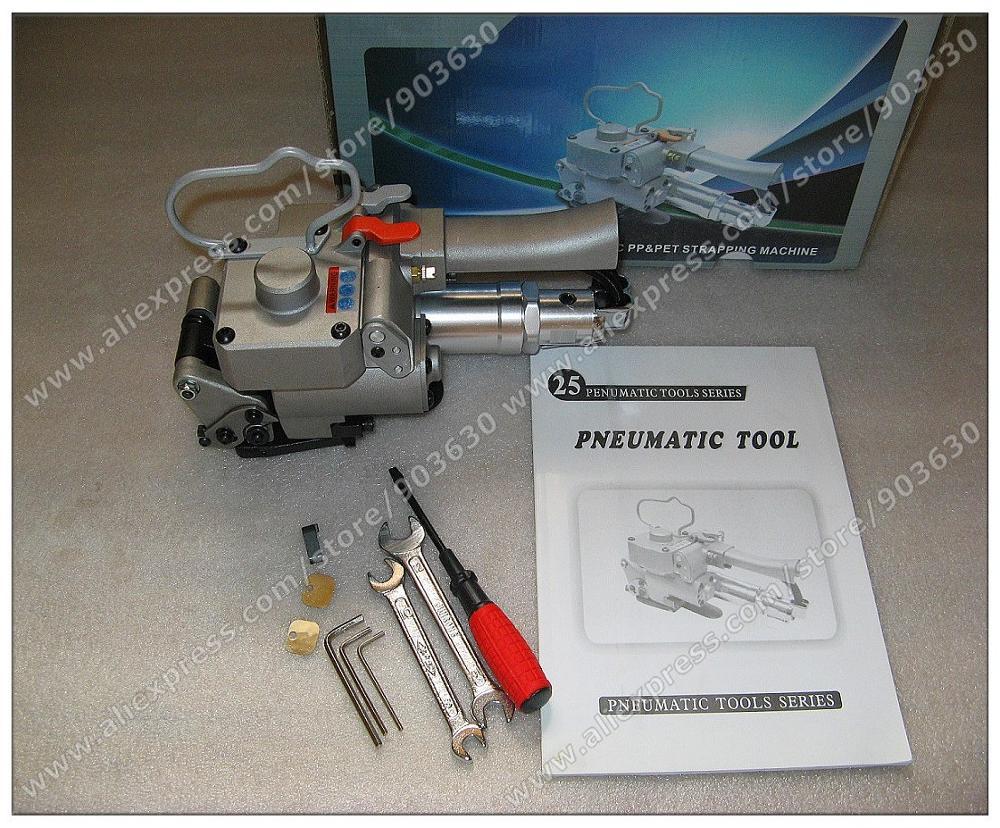A nagykereskedelem garantált 100% új XQD-25 Pnuematic műanyag-, PP- és PET-hevederes szerszám 19-25mm-re