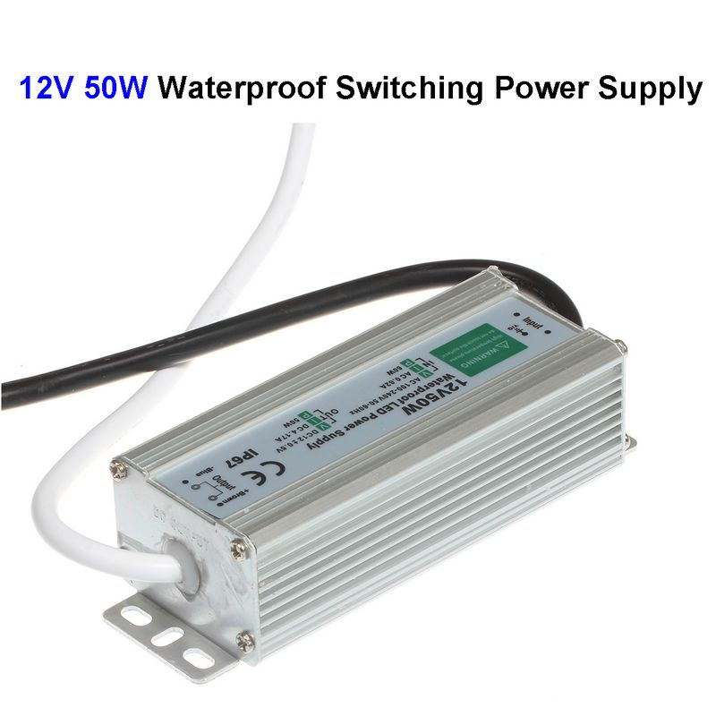 10pcs DC12V 50W Waterproof Switching Power Supply Adapter Transformer For LED Display CCTV Security Camera LCD