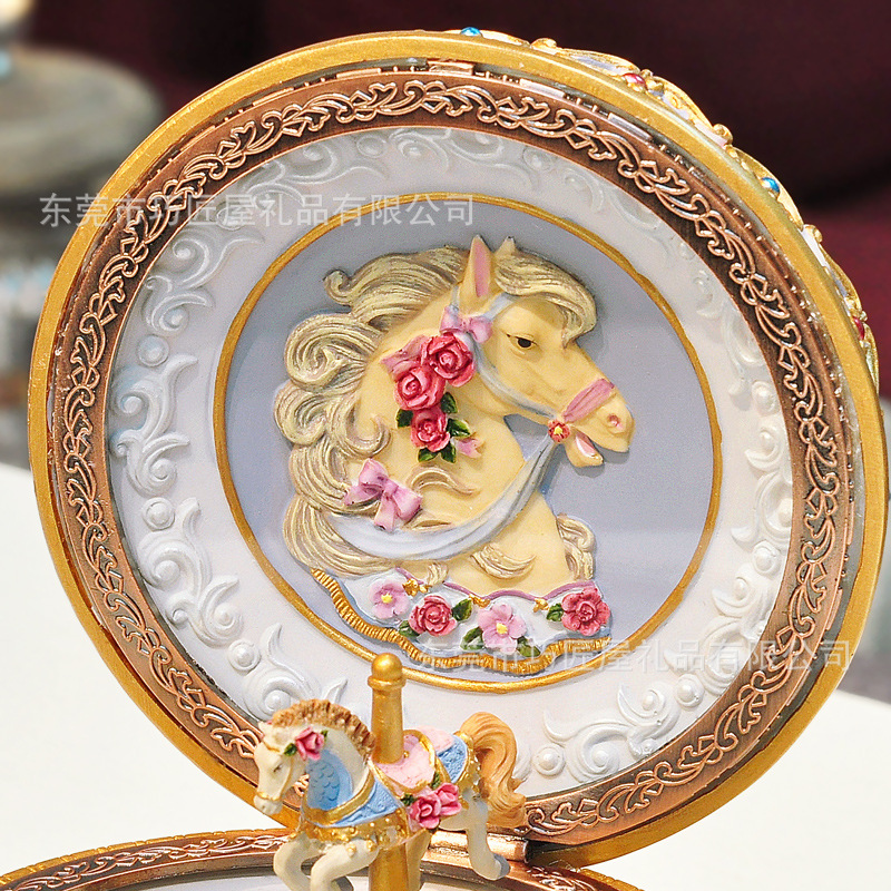 Luminous Merry Go Round Music Box Happy Birthday Christmas Wedding Gift Carousel Horse Vintage Musical Box Home Decor Crafts-in Music Boxes from Home & Garden    3