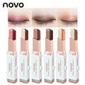 NOVO nueva llegada terciopelo Doble stick Sombra de ojos pigmentos Perlados impermeable No florecen cosmtic