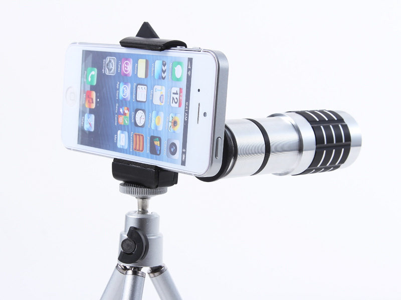 Universal 12X Zoom Phone Camera Lens Telephoto Telescope With Mount Clip Holder Mini Tripod Stand Lens For iPhone Smartphone 13