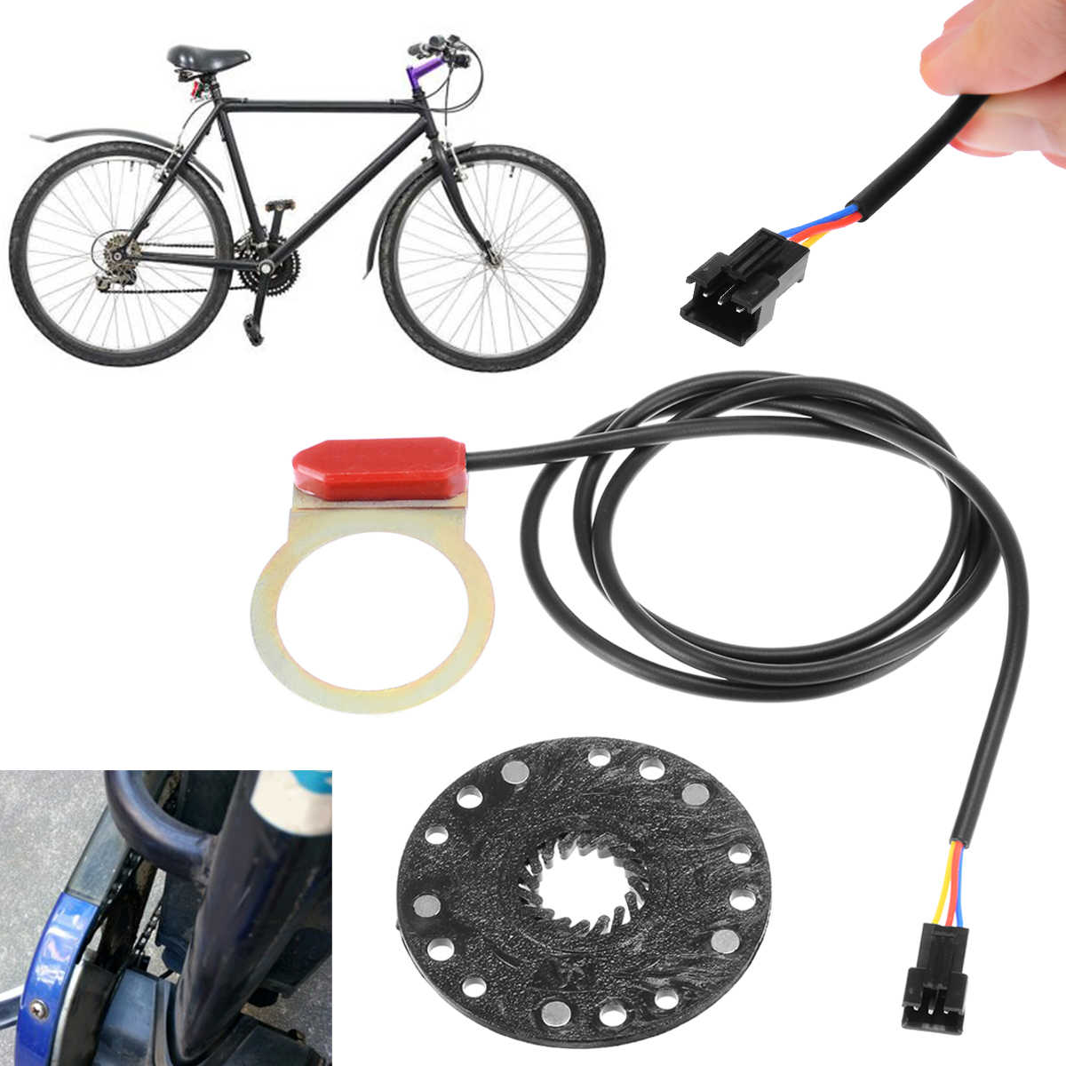 New E-bike Parts Electric Power Pedal Booster Assist Sensor 5Pcs Magnet Cycling Bicycle Accessories