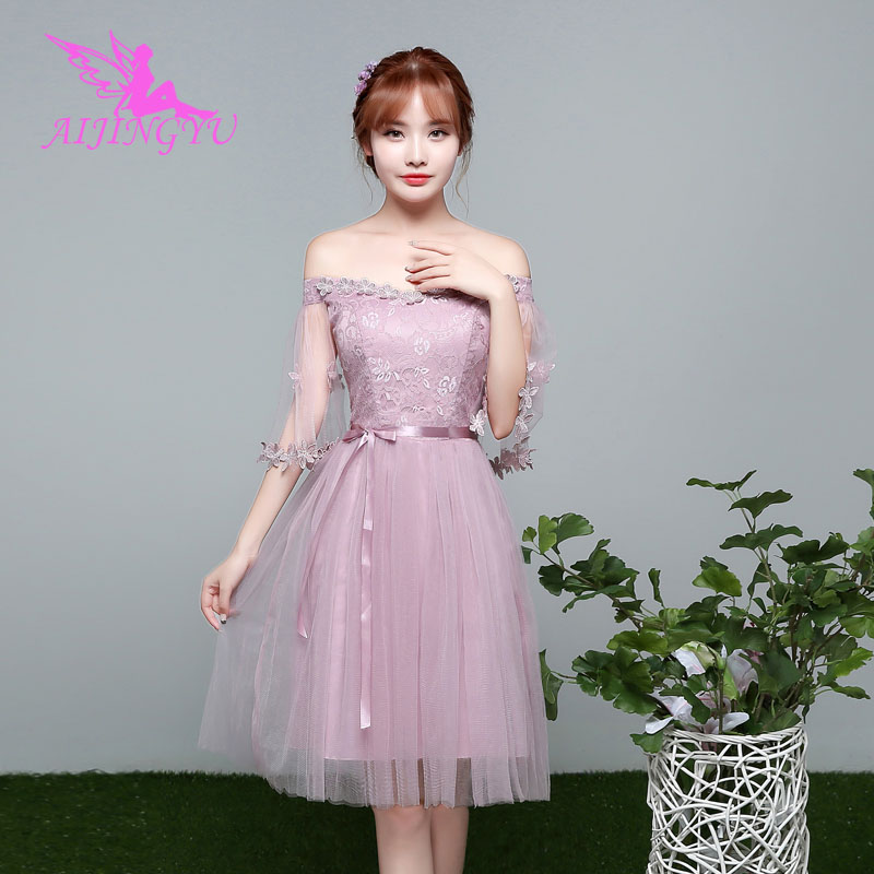 AIJINGYU 2018 Elegant Dress Women For Wedding Party Bridesmaid Dresses BN790
