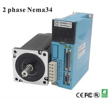 2 phases 12N. M Closed-Step Stepper Servomotor Driver Kit 86J18156EC-1000 + 2HSS858H Cnu Motor Driver цена