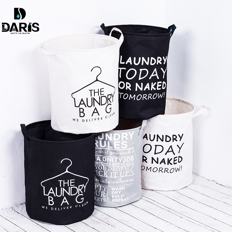 SDARISB Organizer Collapsible Fabric Laundry Basket Foldable Canvas Laundry Hamper Dirty Large Bag Collapsible Laundry Products
